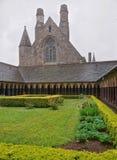 Abbotskloster på Mont Saint Michel i Normandie av Manche i Frankrike Fotografering för Bildbyråer