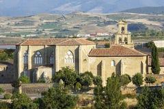 Abbotsklosterkloster i Canas, La Rioja Arkivfoto