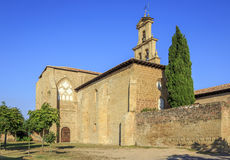 Abbotsklosterkloster i Canas, La Rioja Arkivbilder