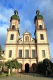 Abbotsklosterkyrka av Ebersmunster Arkivbild