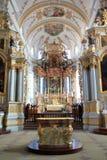 Abbotsklosterkyrka av Ebersmunster Royaltyfri Fotografi