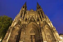 Abbotsklosterkyrka av Saint-ouen i Rouen Royaltyfri Bild