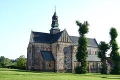 Abbotsklosterkyrkan i Sulejow Arkivbild