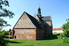 Abbotsklosterkyrkan i Sulejow Arkivbilder