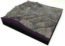 Abbottabad, Пакистан, спутниковый взгляд, карта Стоковые Изображения RF