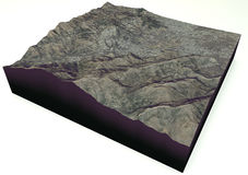 Abbottabad, Pakistan, satelitarny widok, mapa Obrazy Royalty Free