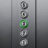 abbottona il comitato dell'elevatore Fotografia Stock Libera da Diritti