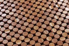 Abbottona il legno Fotografia Stock Libera da Diritti