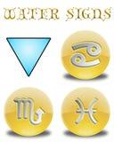 Abbottona l'acqua dello zodiaco Immagini Stock Libere da Diritti