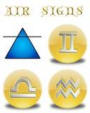 Abbottona l'aria dello zodiaco Immagini Stock Libere da Diritti