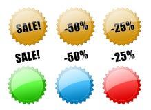 Abbottona la vendita! illustrazione vettoriale
