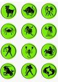 Abbottona lo zodiaco Fotografia Stock Libera da Diritti