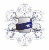 Abbottoni il blu floreale della stella di Web Fotografia Stock Libera da Diritti