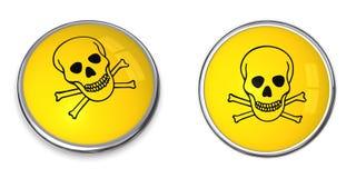 Abbottoni il simbolo d'avvertimento del veleno Fotografie Stock Libere da Diritti