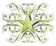 Abbottoni la stella di Web floreale Fotografia Stock Libera da Diritti