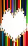 Abbozza il cuore Fotografia Stock