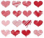 Abbozzi del cuore Fotografia Stock