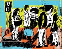 abbozzi della gente Immagini Stock Libere da Diritti