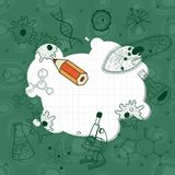 Abbozzi di biologia sulla scheda di banco illustrazione vettoriale