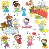 Abbozzi di girls_series2 Fotografia Stock