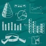 Abbozzo degli elementi di Infographics Fotografie Stock