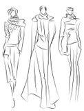 Abbozzo dei vestiti di modo illustrazione di stock