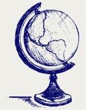Abbozzo del globo illustrazione di stock