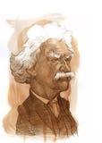 Abbozzo del Mark Twain Fotografia Stock Libera da Diritti