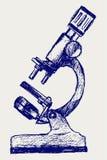 Abbozzo del microscopio royalty illustrazione gratis