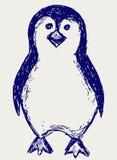 Abbozzo del pinguino illustrazione vettoriale