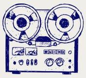 Abbozzo del registratore illustrazione vettoriale