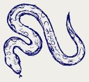 Abbozzo del serpente royalty illustrazione gratis