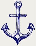 Abbozzo dell'ancoraggio illustrazione di stock