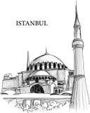 Abbozzo della cattedrale della st Sophia di Costantinopoli Fotografia Stock