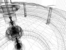Abbozzo della costruzione di tecnologia illustrazione vettoriale