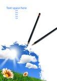 Abbozzo della matita Fotografie Stock