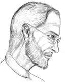 Abbozzo della matita dello Steve Jobs Fotografia Stock Libera da Diritti