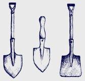 Abbozzo della pala illustrazione di stock