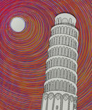 Abbozzo della torretta di Pisa Fotografia Stock Libera da Diritti