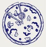 Abbozzo delle pizze illustrazione di stock