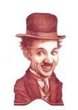 Abbozzo di caricatura del Charlie Chaplin Fotografie Stock Libere da Diritti