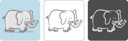 Illustrazione monocromatica semplificata vettore - Elefante foglio di colore dell elefante ...