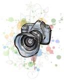Abbozzo di colore di una macchina fotografica digitale della foto Fotografia Stock Libera da Diritti