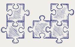 Abbozzo di puzzle Immagini Stock