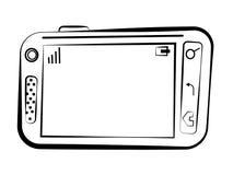 Abbozzo di Smartphone illustrazione di stock