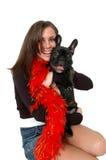 Abbracci dell'animale domestico fotografie stock libere da diritti