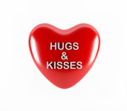 Abbracci e baci Immagine Stock Libera da Diritti