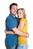 Abbracciare amoroso delle coppie Immagine Stock