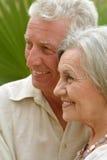 Abbraccio anziano felice delle coppie Fotografie Stock Libere da Diritti