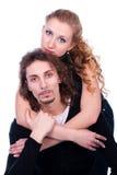 Abbraccio della donna e dell'uomo Fotografia Stock